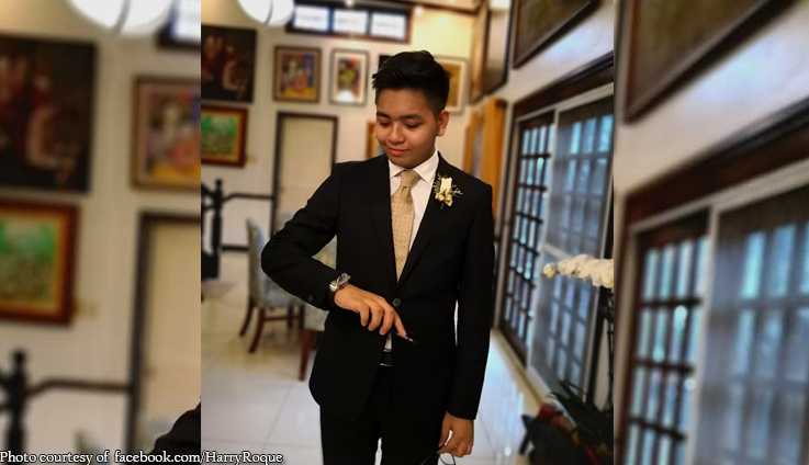 Big boy na! Harry Roque sends off son to prom