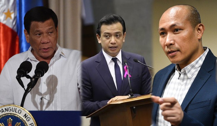 Duterte calls Trillanes, Alejano 'stupid fools' for acting like abogados: All their evidence is double-deck hearsay