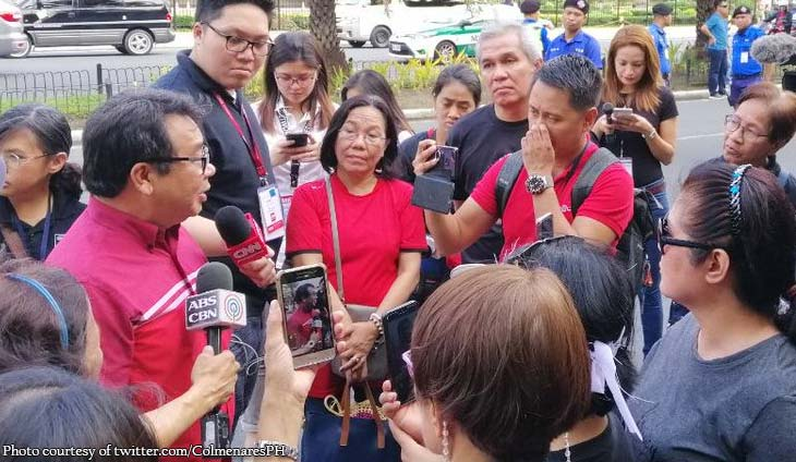 Neri Colmenares protests election results in PICC