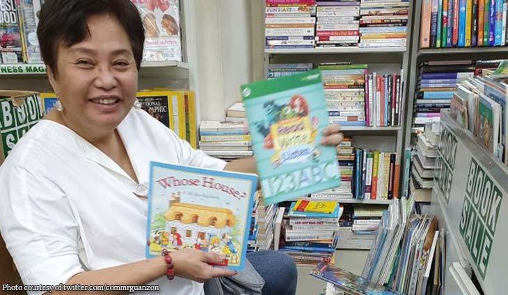 Guanzon takes a break to buy books for children