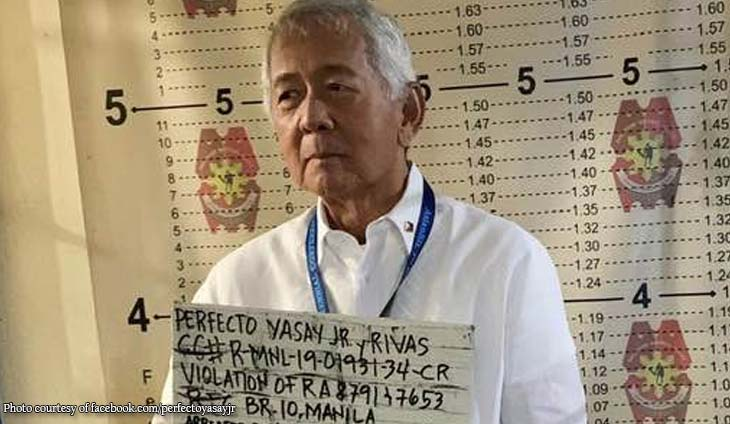 Ex-DFA secretary arrested for violating banking laws