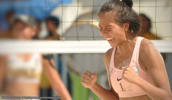 Rebo Saguisag honors volleyball player Tiamzon